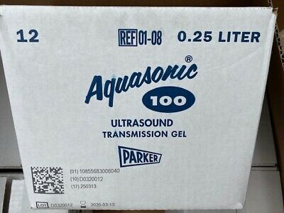 (Case of 12) Aquasonic 100 Ultrasound Gel - 8.5 Ounce Tube, BUY MORE & SAVE 10%!