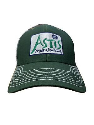 Astis Stay Warm Stay positive Leather Mittens Gloves Mesh Snapback Baseball Cap