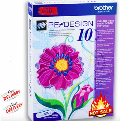 Brother PE Design 10 Embroidery Full Software 2020 🔥 Free Gifts ✅ 5s DELIVRY 🔥