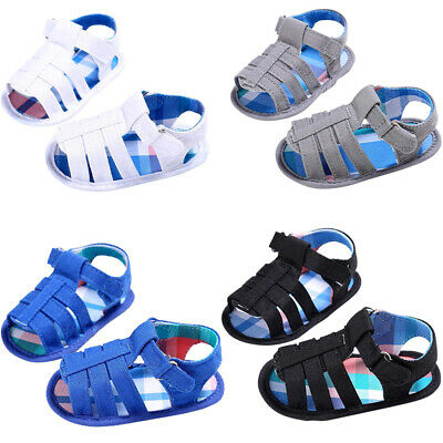 10X(Baby Infant Kids Girl boys Soft Sole Crib Toddler Newborn Sandals Shoes H6X2