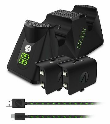 Stealth Microsoft Xbox One Twin Charging Dock - Black Brand New & Sealed
