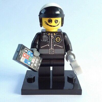 Genuine Lego Minifigures SCRIBBLE FACE BAD COP from  MOVIE series 1