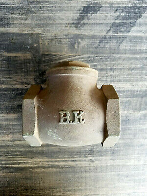 "NEW BK 2"" Brass Single Inline Swing Check Valve"