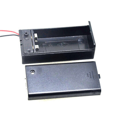 2Pcs New 9V Battery Holder with ON/OFF Switch 9 volt Box Pack Power Toggle  HIsh
