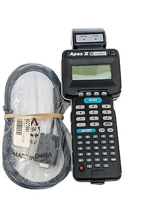 Compsee Apex II Handheld Portable Terminal Laser Scanner Black PC Cable Cord