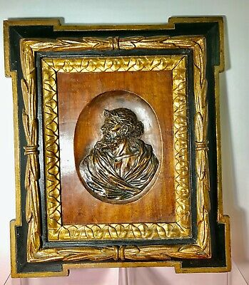 Antique Austrian Wood Relief Carving Of An Apostle - Walnut Mid 1800s