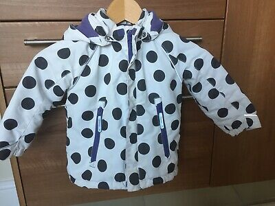 H & M HM Jacket Coat Spotty 2-3 Years Black White