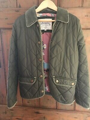 Boden Johnnie b Girls Age 9-10yrs Quilted Jacket/Coat Green