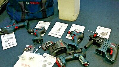 BRAND NEW Bosch 5 Piece 18v Cordless Tool Combo Set Boschhammer, Recip Saw, MORE