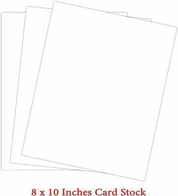 "White Thick Paper Cardstock - 8 x 10"" Blank 100 lb Cover Card Stock - For..."