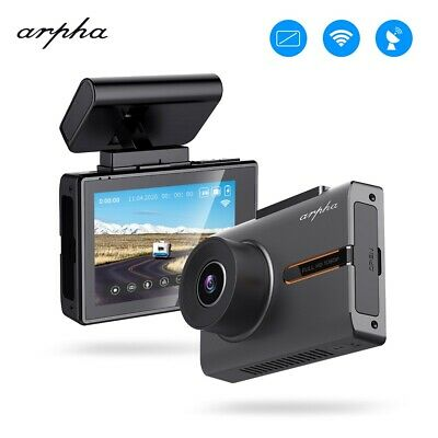 "Arpha W02 3"" 1080P OLED Touch Screen Car Dash Cam WiFi GPS Night Vision DVR Cams"