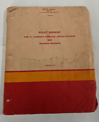 1941 Shell Policy Booklet Company Operated Service Stations and Training Program