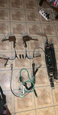 Linemen Climbing Tools (Brand new never used belt, used safety strap & climbers)