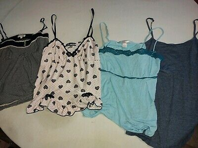 Lot Of 4 Lounge Sleepwear Pajama Tops Size L Victoria's Secret And Poof