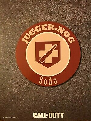 Call of Duty ~ Jugger-Nog Soda ~ Game Double Sided Poster Art