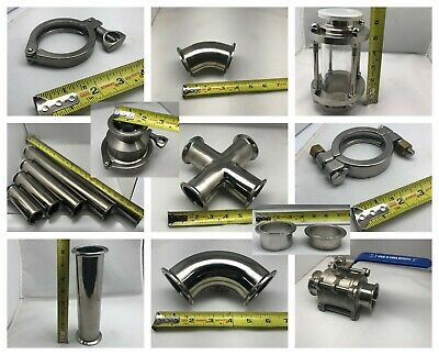 "2"" tri-clamp sanitary clamp fittings brewery stainless steel lab equipment"
