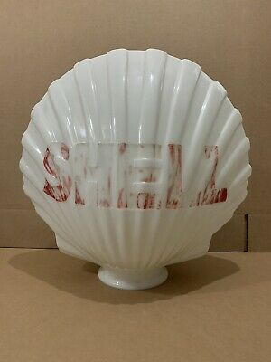 Shell Gas Pump Globe Light Vintage Glass Lens Service Station Garage Sign
