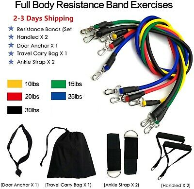 SAG Collection Resistance Bands Set – Include 5 Stackable Exercise Tubes 11Pcs