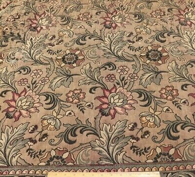 """Antique c1890 French Cotton Jacquard Tapestry Fabric~Exotic Style~L-46"""" X W-56"""""""