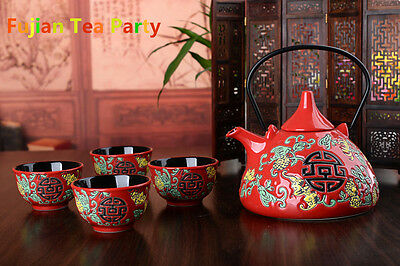 Vintage Porcelain Gong Fu (Kung Fu)Tea Set, wedding gifts