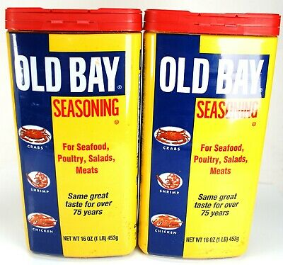 BEST PRICE ON HERE! (2) LARGE 16 oz 1LB OLD BAY SEASONING ---> FREE SHIPPING!!!