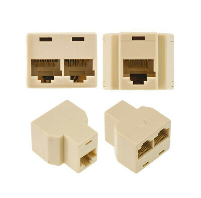 RJ45 Ethernet LAN Network Y Splitter 2 Way Adapter 3 Ports Coupler Connector NEW