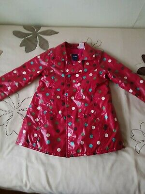 Baby GAP Girl's Red Spotted Raincoat - SIZE 3yrs