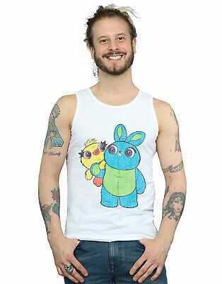 Toy Story Mens 4 Ducky /& Bunny Stick with It Motto Tank Top