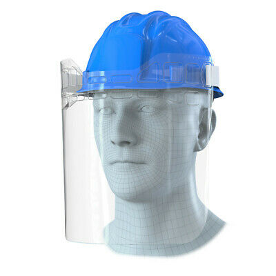 2 x Full Covering PPE Adjustable Hard Hat Visor Protection - UK Made