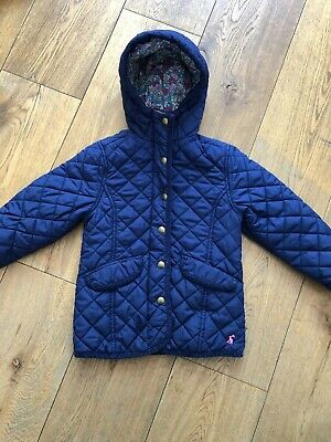 Joules Girls Navy Quilted Marcote Jacket, Age 3 (up to 98cm)