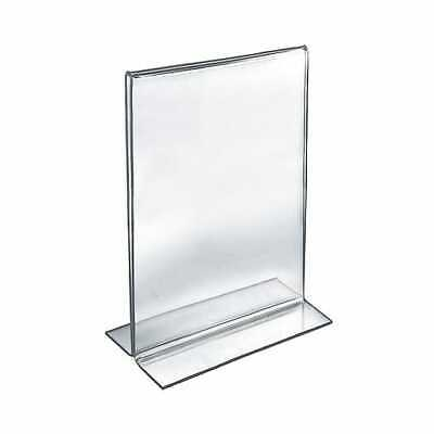 "Azar 152710 Acrylic 2-Sided Double-Foot Vertical Sign Holder, 14"" x 11"", 10/Pack"