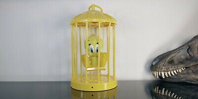 Looney Tunes Talking Tweety Bird Singing in Cage Play by Play Motion Activated
