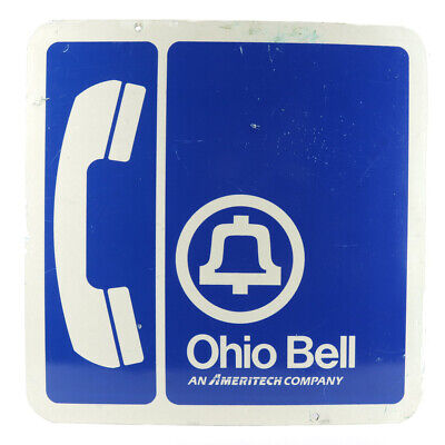 Vintage Ohio Bell Double Sided Phone Booth Sign