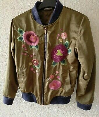 NEXT JACKET  BOMBER LONG SLEEVES ZIP BROWN AGE 12 polyester