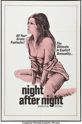 35mm-NIGHT AFTER NIGHT-1975. Jamie Gillis, Grindhouse Feature Film.