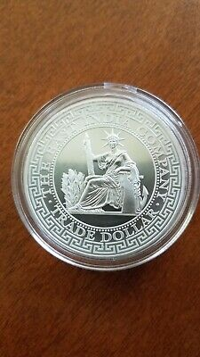 2020 St. Helena East India Company 1 oz Silver French Trade Dollar In Capsule