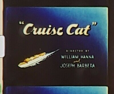 """Tom And Jerry In """"Cruise Cat"""" Super 8Mm Col And Sound"""