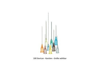 100 Injection Cannules Sterican Cannules B.Braun Cannula Various Sizes Pack