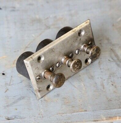 Antique Vintage Push Button Switch 3 button electrical switch steampunk ignition