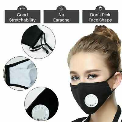 Washable Reusable Activated Carbon Filter Respirator Filters Face Anti-Fog Haze