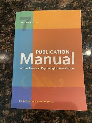 Publication Manual of the American Psychological Association (2020) 7th Edition