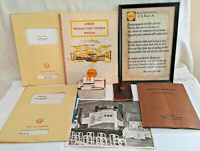 Shell Oil Lot Jobber Manual, Marketing Plans, Matchbooks, More 1950s - 1960s