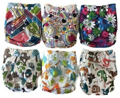 Echo Friendly Diapers- Bamboo Terry Absorbent Reusable Cloth Diaper AI2 Easy Use