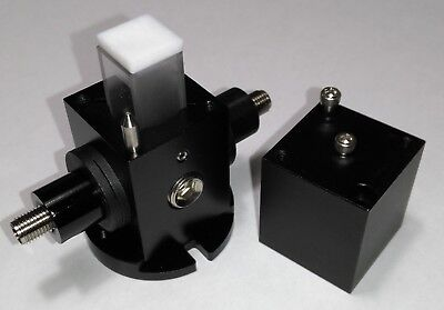 Light-Tight Cuvette Housing (3x SMA 905 Adaptors) for Square & Cylindrical Vials