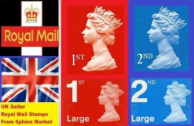 New 1St / 2Nd Class Postage - Small & Large - Genuine - Red & Blue