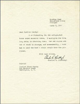 Charles A. Lindbergh - Typed Letter Signed 03/02/1944