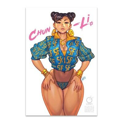 2018 Street Fighter Summer Sports Special Comic Udon Exclusive Chun-Li Album CVR