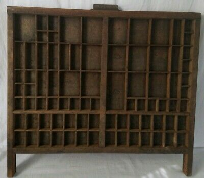 Antique Vintage Hamilton Divided Printers Typeset Tray Drawer With Arms