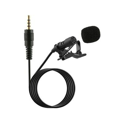 Clip On Lapel Microphone Hands Free Wired Condenser Mic Lavalier NEU Mini 3 K6A8