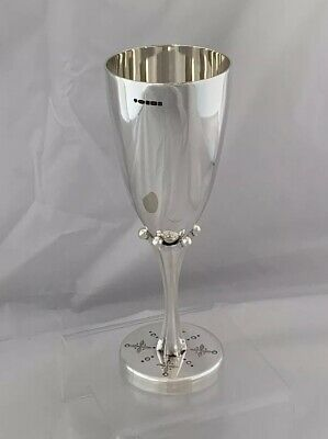 UNIQUE Solid Silver Goblet Or Wine Cup 2019 Sheffield Sterling Silver